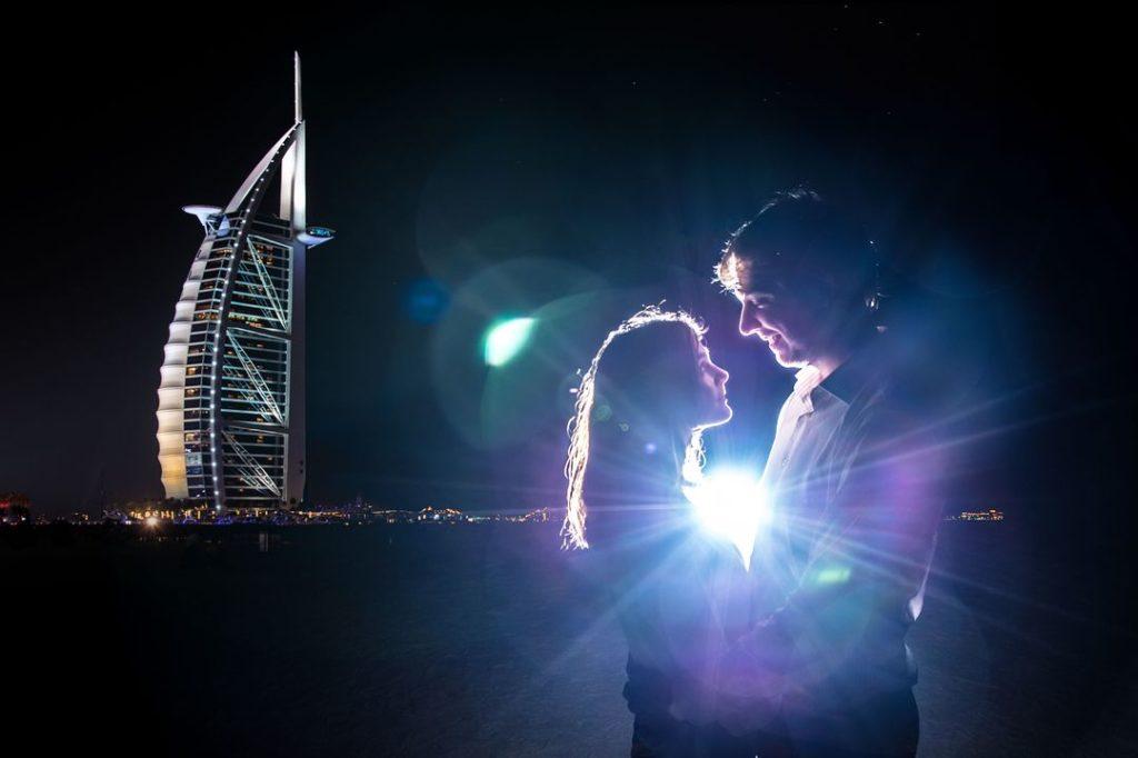 Séance d'engagement à Dubai
