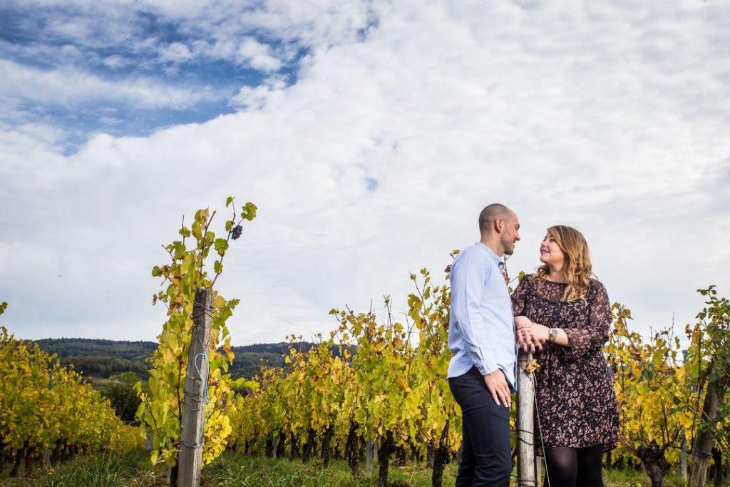 Séance d'engagement dans les vignes à Arbois