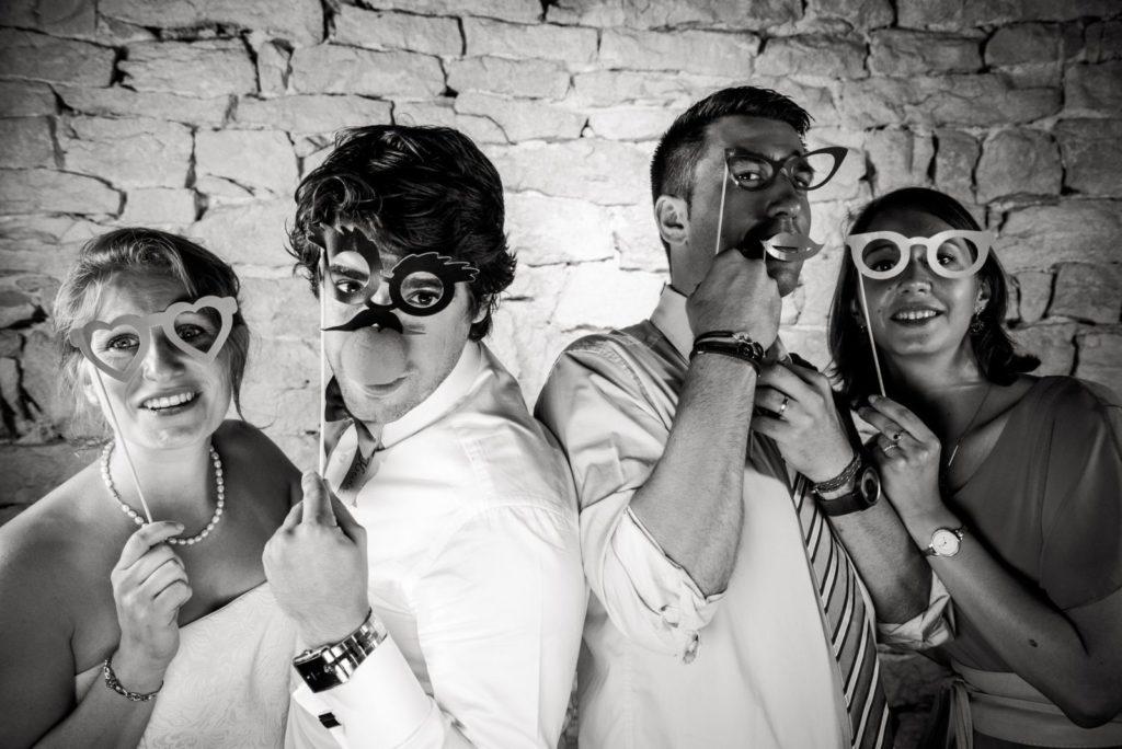 Photobooth en noir et blanc
