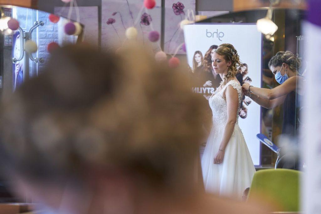 Habillage la mariée